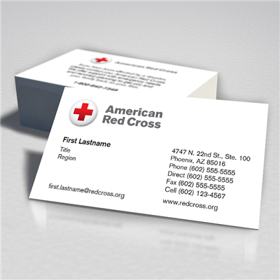 American Red Cross Business Card Toll Free Double Sided