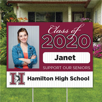 Hamilton High Yard Sign Photo